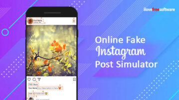 Online Fake Instagram Post Simulator