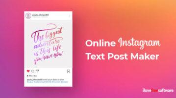 Online Instagram Text Post Maker