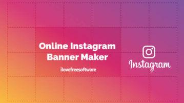 Online Instagram banner maker