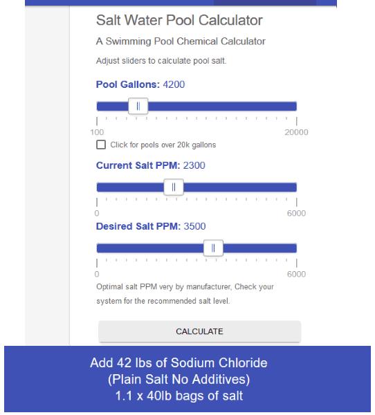 Poolchemicalcalculator website