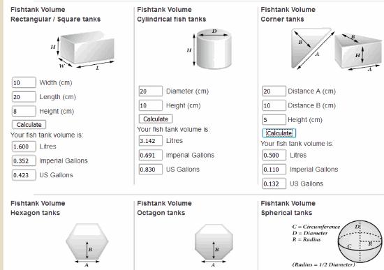 Fish Tank Volume Calculator Uk Gallons | Bruin Blog