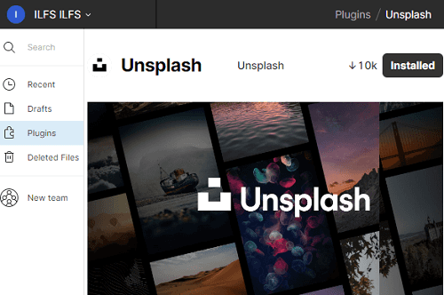 Unsplash Plugin Page