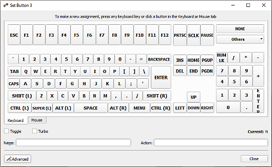 AntiMicro - map keyboard buttons