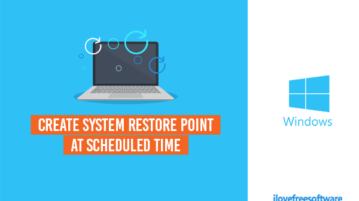 automatically create system restore point at scheduled time