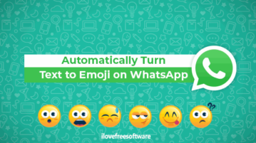 automatically turn text to emoji on whatsapp