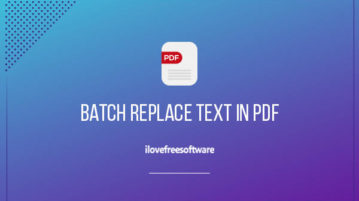 batch replace text in pdf