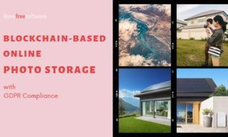 Blockchain-based Alternative to Google Photos with GDPR Compliance