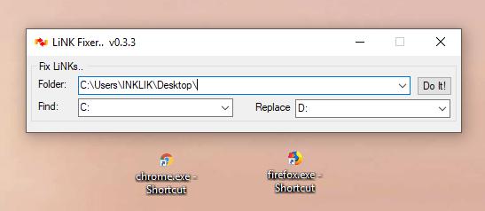 autofix the shortcut target paths in bulk