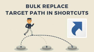 How to Bulk Replace Target Path in Shortcuts on Windows?