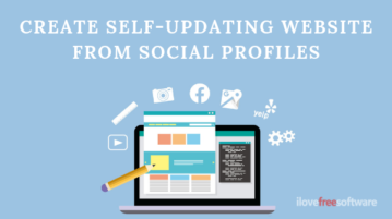 Create Website from Social Profiles Information Automatically