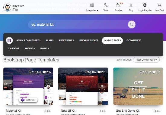 CreativeTim Bootstrap templates