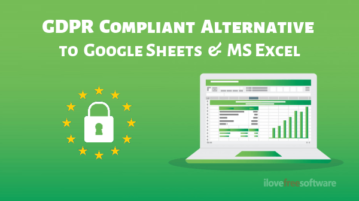 Free GDPR Compliant Alternative to Google Sheets, MS Excel