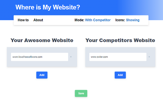 highlight competitor websites in google search in chrome - competitor mode