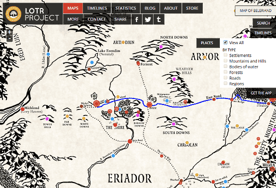 explore the places of middle earth from lord of the rings