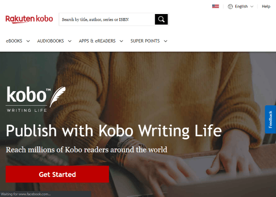 Online Platforms to Self Publish Your Book kobo