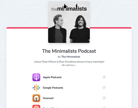 universal podcast link that opens podcast in user's native app
