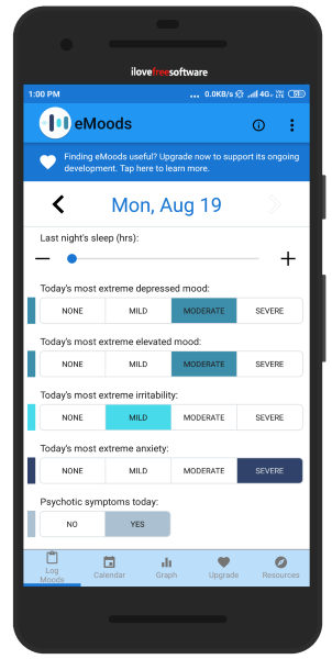 mood tracker Android app