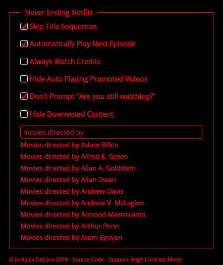never ending netflix options
