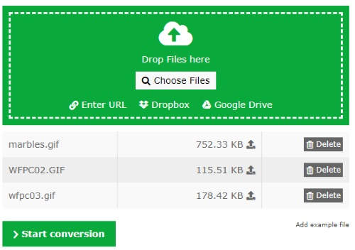 online GIF to WebP converter