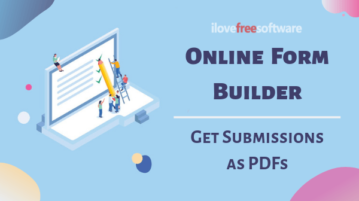 Online Form Builder with Email Notification to Get Submissions as PDF
