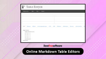 online markdown table editors