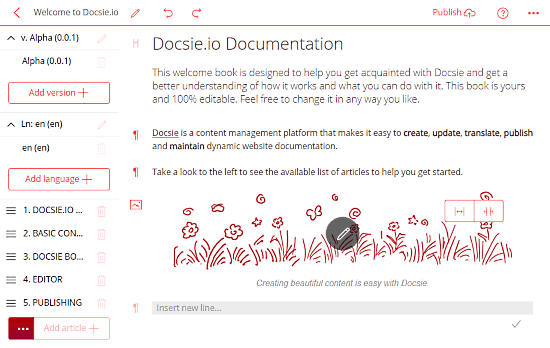 online product documentation management tool with version control