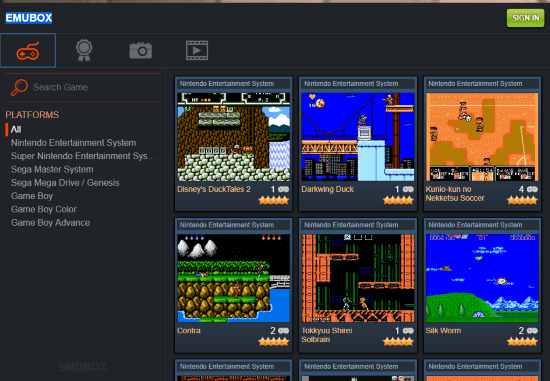 play retro nintendo games online