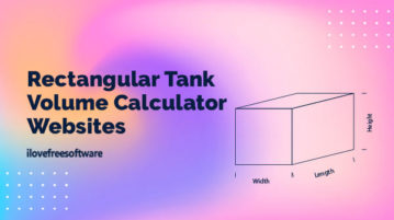 rectangular tank volume calculator websites