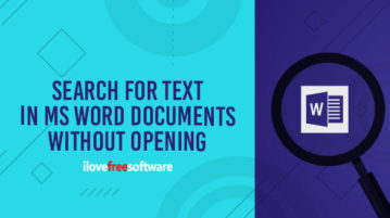 search for text in word files without opening