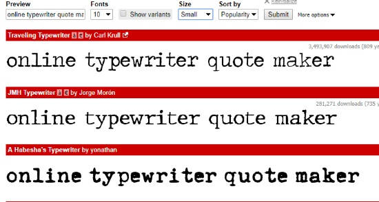 typewriter quote maker