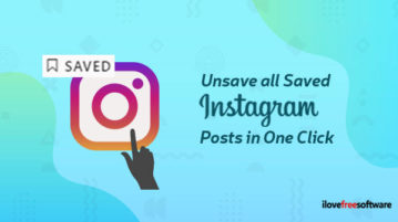 unsave all saved instagram posts in one click