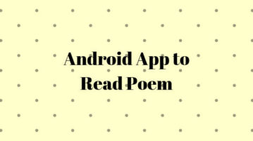 Android app to read poems