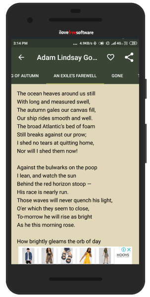 Best Poetry App for Android