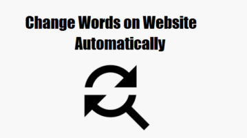 Change words on website automatically free