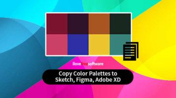 Copy Color Palettes to Sketch, Figma, Adobe XD