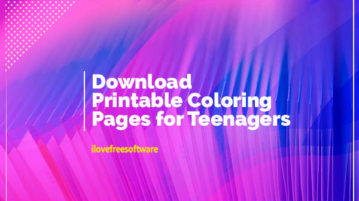 Download Printable Coloring Pages for Teenagers