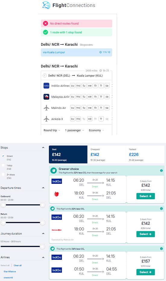 FlightConnections See Flight Prices