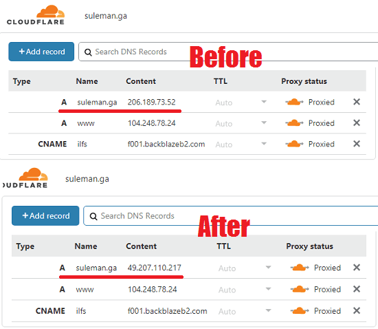 Free Cloudflare dynamic DNS Windows client to update IP automatically