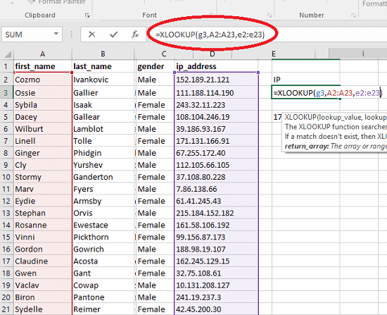 Free XLOOKUP XFuntion Excel Addin For All Versions of Excel