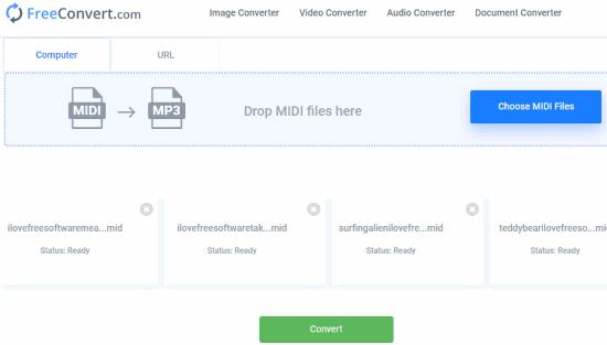 5 Online MIDI to MP3 Converter Websites Free