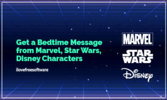 Get a Bedtime Message from Mickey Mouse, Spider Man, Yoda, Donald Duck, Daisy, Aladdin