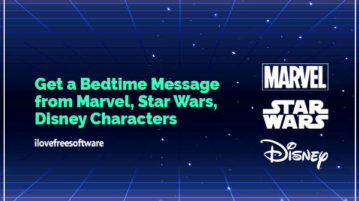 Get a Bedtime Message from Marvel, Star Wars, Disney Characters