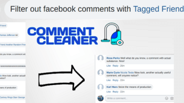 Hide Facebook Comments Based on Length or Tagged Users