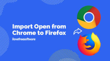 Import Open from Chrome to Firefox
