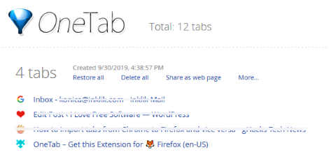 Import Tabs from Chrome to Firefox