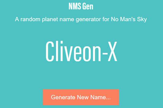 NMS Gen website interface
