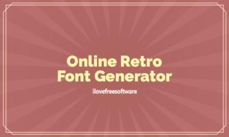 7 Online Retro Font Generator Websites Free