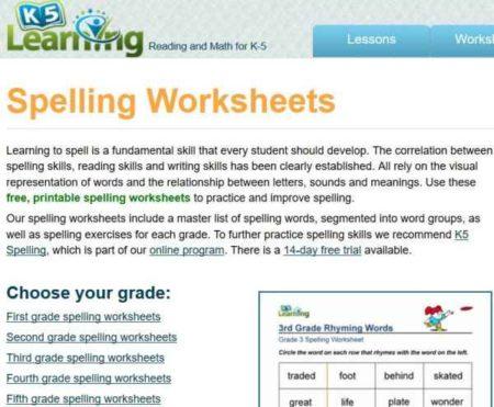 11 free websites with printable spelling worksheets. Black Bedroom Furniture Sets. Home Design Ideas