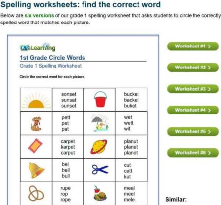 11 Free Websites With Printable Spelling Worksheets