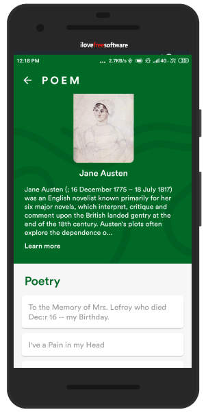 Read about poets and poems